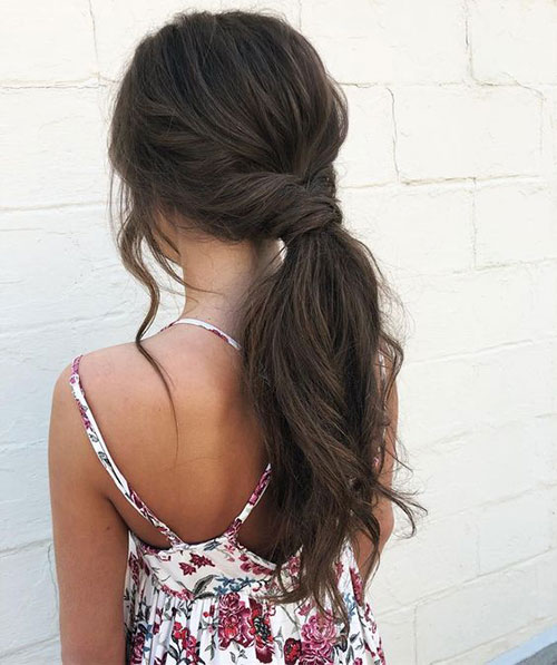 Easy Ponytail Brown Hairstyles-10