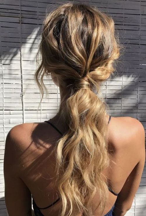 Easy Ponytail Hairstyles-16