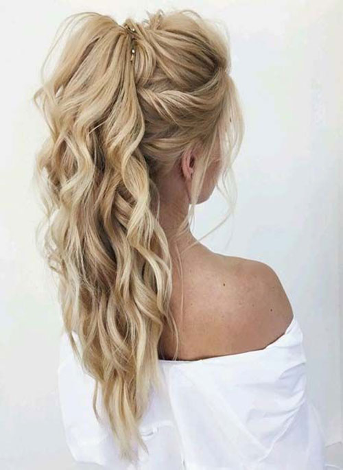 Easy Ponytail Wavy Hairstyles-6