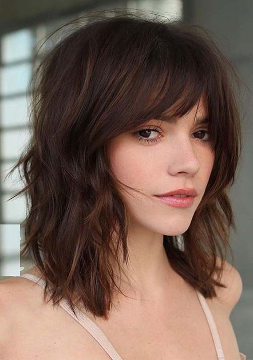 Long Bob Hairstyles W Bangs-7
