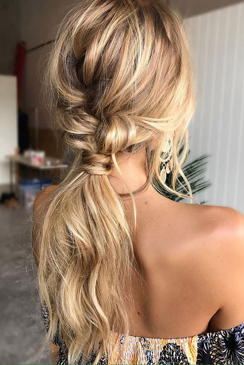 Easy Twisted Ponytail Hairstyles-9