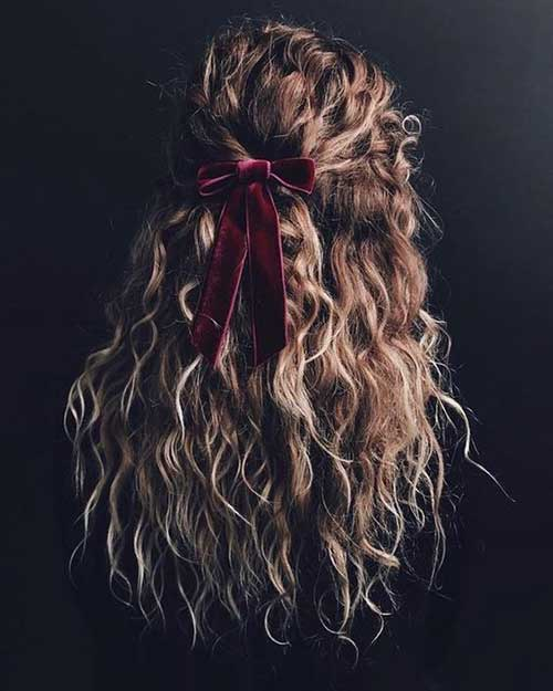 Curly Half Up Hairstyles for Women-13