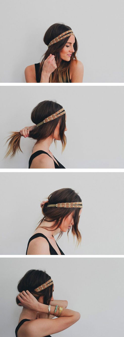 Easy Headband Hairstyles-13