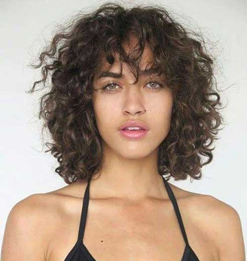 Curly Bangs Hairstyles for Women-14