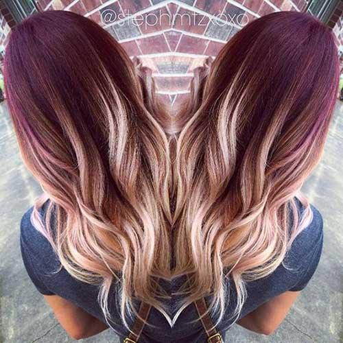 Red Blonde Ombre Hairstyles-14
