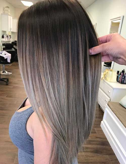 Hairstyles for Ash Ombre Hair-15