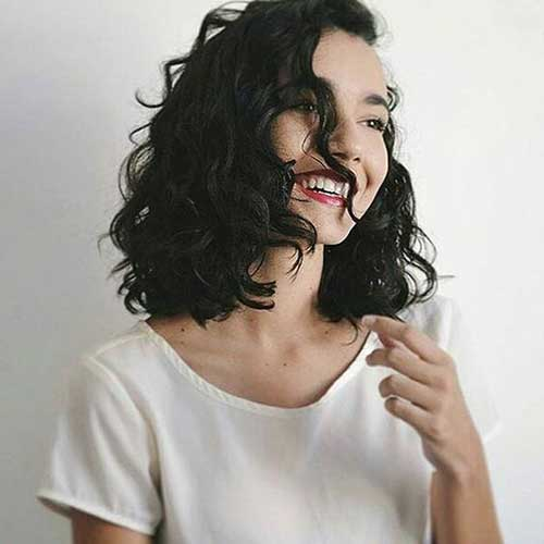 Long Bob Curly Hairstyles for Women-15