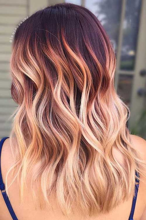 Hairstyles for Red Ombre Hair-6