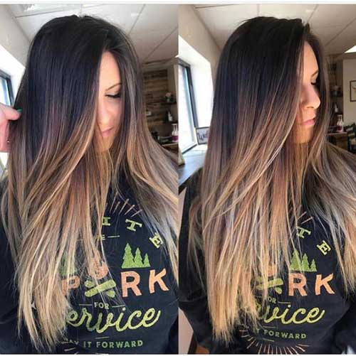 Ash Blonde Hairstyles for Ombre Hair-7