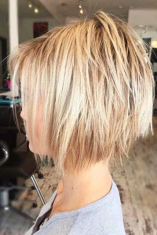 Layered Short Haircuts for Women-7