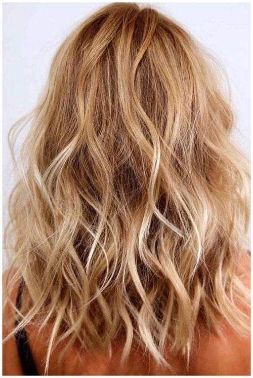 Medium Length Loose Wavy Hairstyles-9