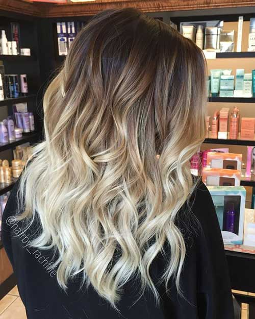 Medium Short Hairstyles for Ombre Hair-9
