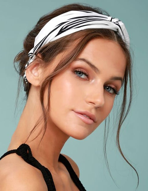 Headband Hairstyles for Medium Hair