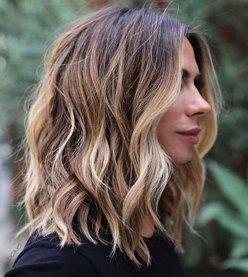 Wavy Hairstyles for Medium Length Hair