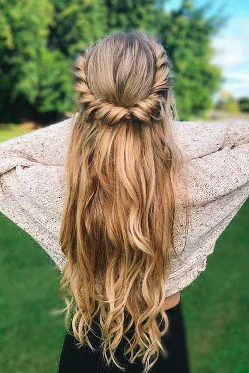 Cute Half Up Half Down Hairstyles-11