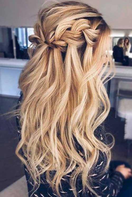 Cute Half Up Half Down Hairstyles-13