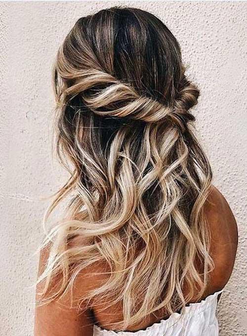 Cute Half Up Half Down Hairstyles-14