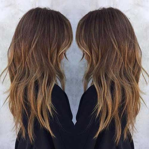 Layered Hair with Side Bangs-15