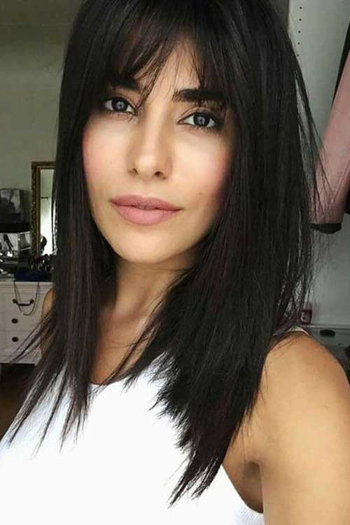 Layered Hair with Side Bangs-16