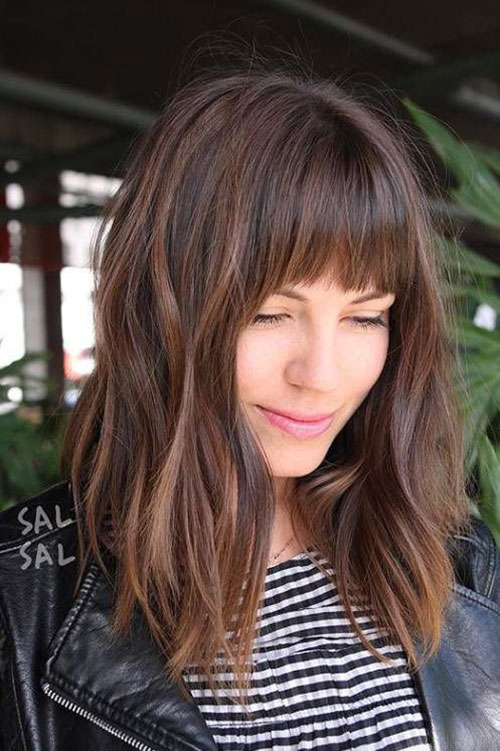 Hairstyles with Bangs 2019-17
