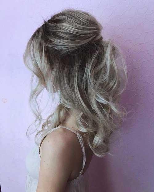 Cute Half Up Half Down Hairstyles-17