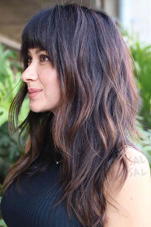 Hairstyles with Bangs 2019-18
