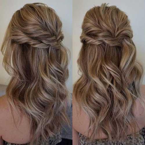 Cute Half Up Half Down Hairstyles-19
