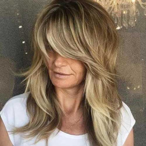 Layered Hair with Side Bangs-19