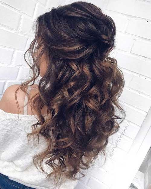 Cute Half Up Half Down Hairstyles-20