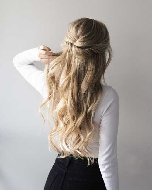 Cute Half Up Half Down Hairstyles-6