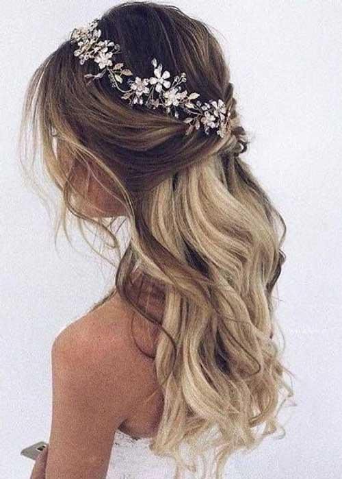 Cute Half Up Half Down Hairstyles-7