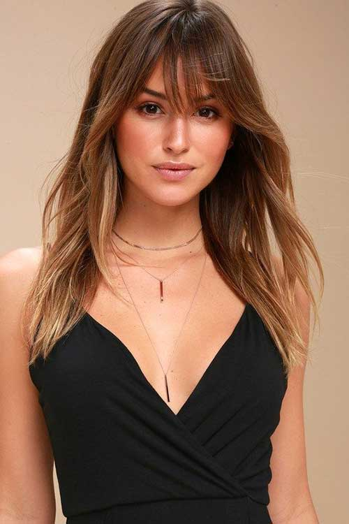 Layered Hair with Side Bangs-8