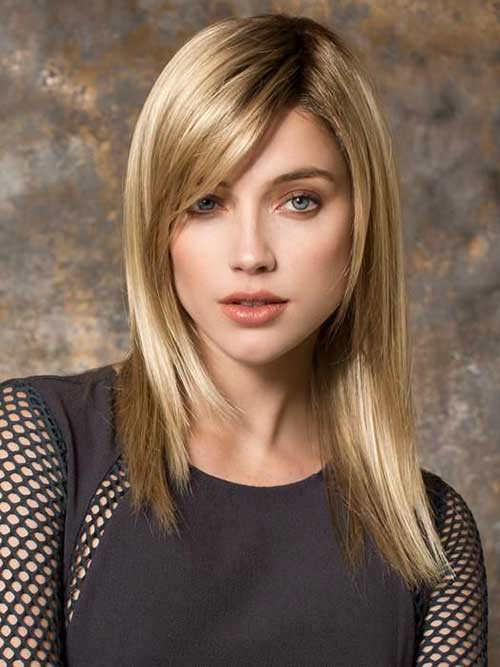 Layered Hair with Side Bangs-9