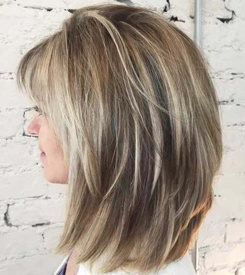 Medium Layered Hairstyles-16