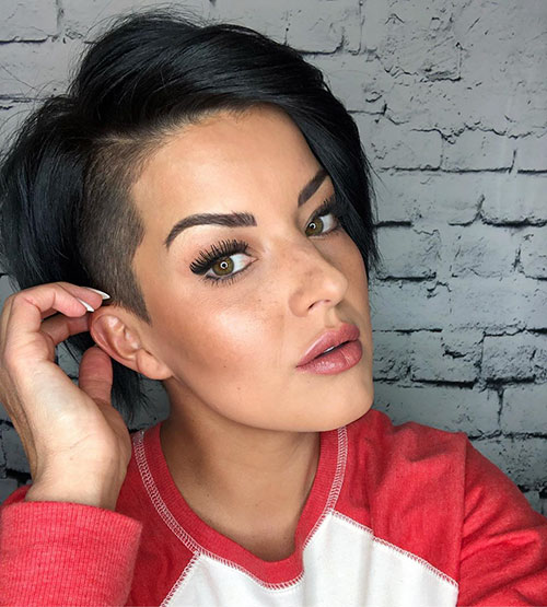 Short Hair Shaved Sides Female