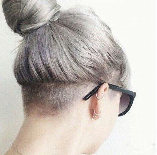Short Hair Shaved Sides Female