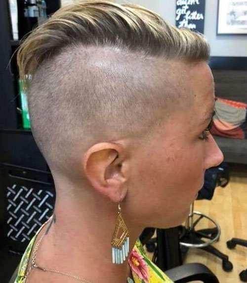 Best Short Hair Shaved Sides Female