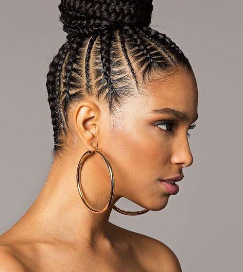 25 Eccentric Braided Bun Black Hairstyles for 2020