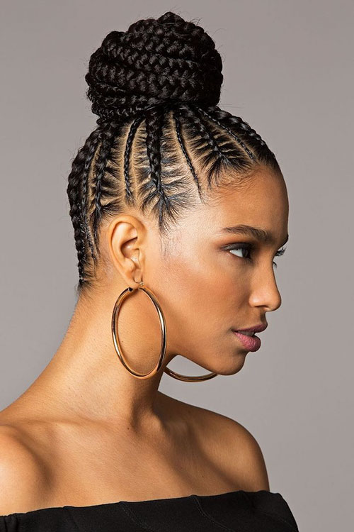 Braided Bun Black Hairstyles