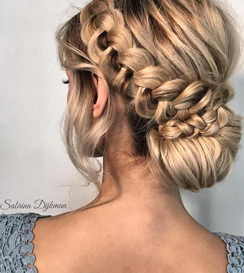25+ Pretty Designs of Braided Bun Hairstyles To Try in 2020