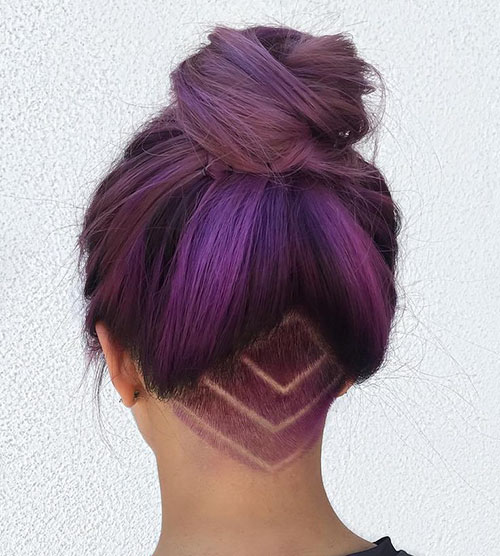 35 Nape And Around Undercut Girl Hairstyle Design | Hairstyles and Haircuts | Lovely-Hairstyles.COM