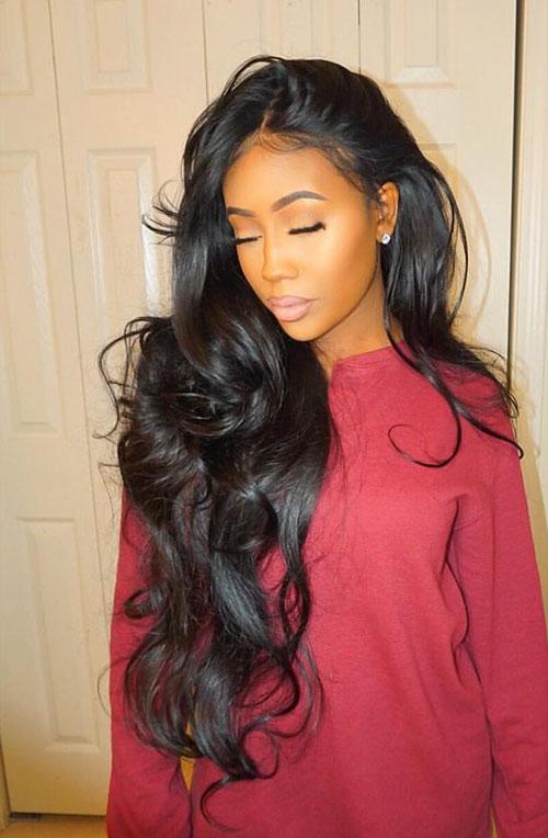 Long Hair Weave