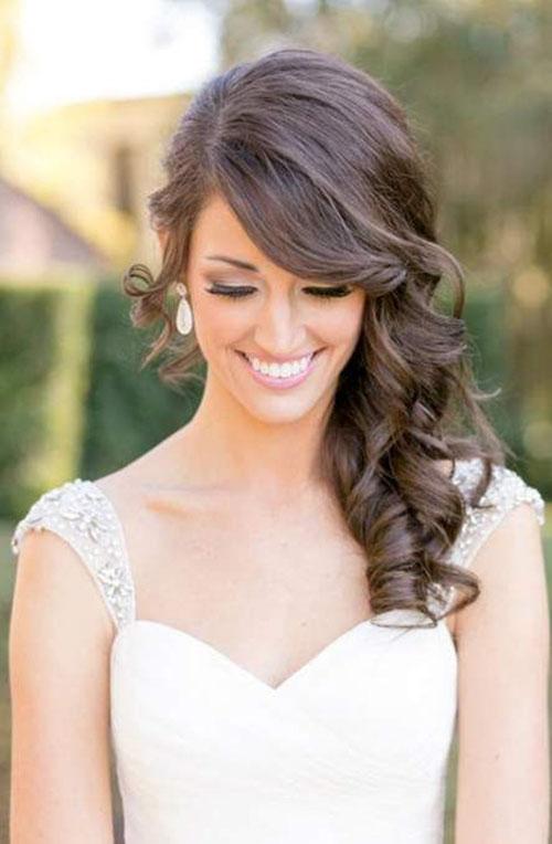 Side Style Wedding Hair