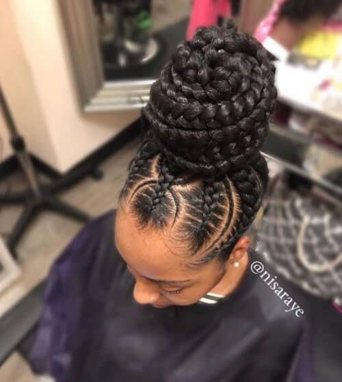 Braided Bun Hairstyles For Black Hair