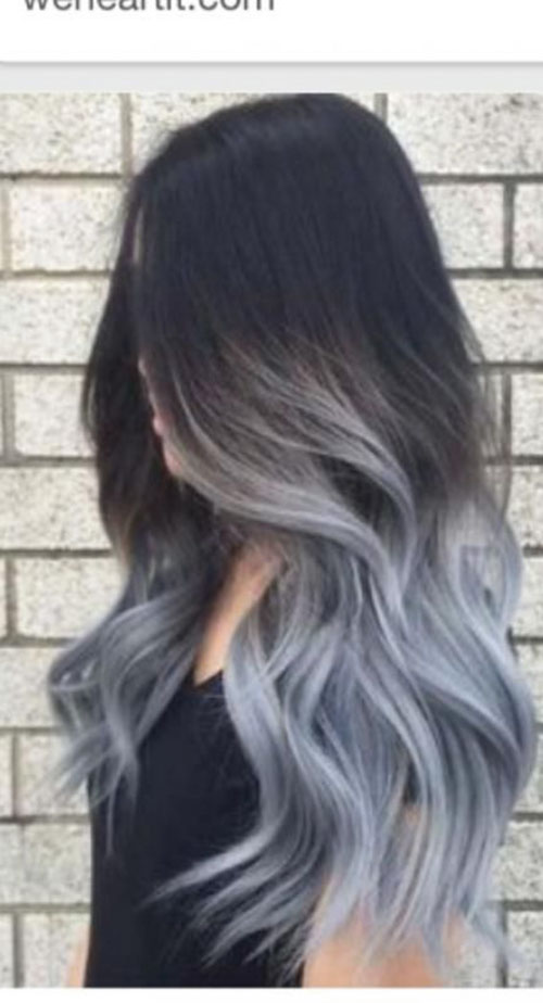 Black Grey Hair