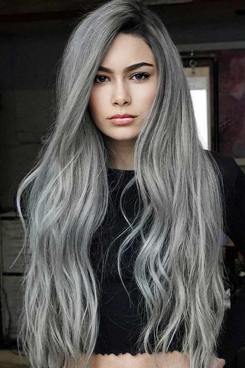 Black And Grey Hair Styles