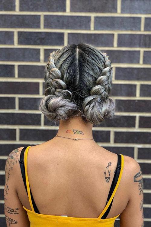 Braided Hairstyles In A Bun