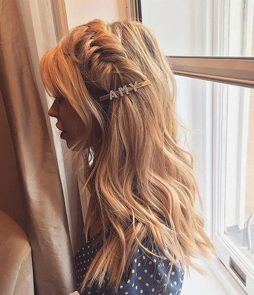 Long Hair With Braid In Front