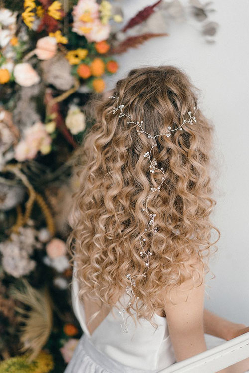 Natural Wedding Hairstyles For Long Hair