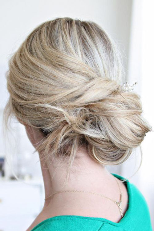 Messy Bun Wedding Hair